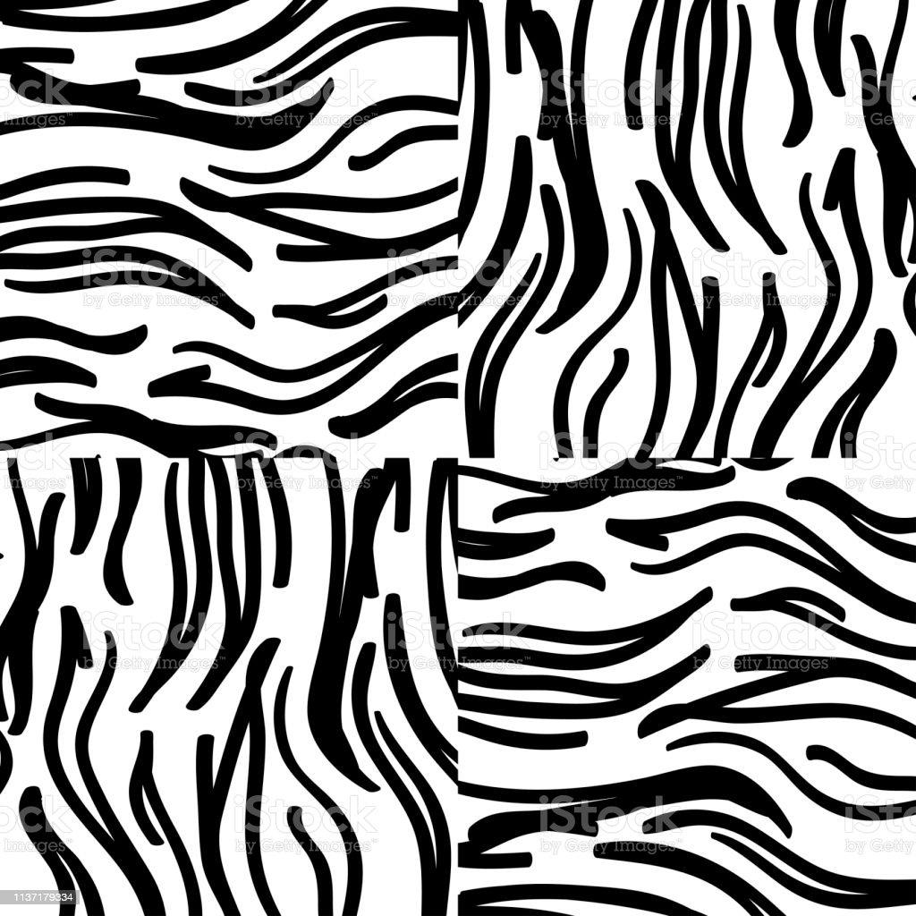Texture Zebre Abstrait De Couleurs Noires Et Blanches Vecteurs Libres De Droits Et Plus D Images Vectorielles De Abstrait Istock