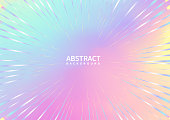 Abstract zoom line on colorful background. Vector illustration