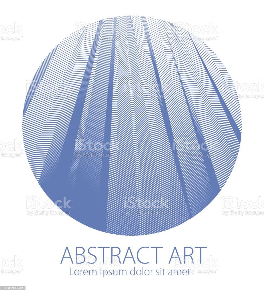 Abstraktionskunst Linearen Strukturierten Element In Runder