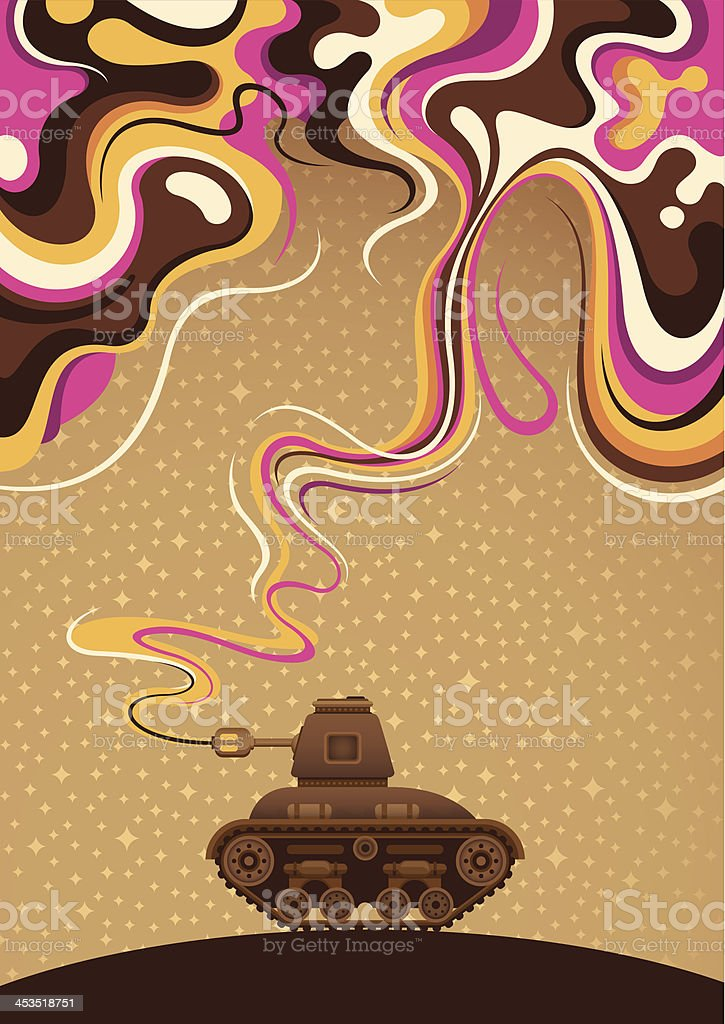 Abstraction with tank. royalty-free stock vector art