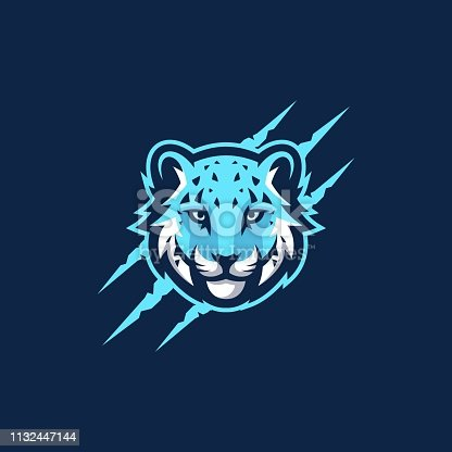 AbstractSnow Leopard Vector Template.  Suitable for Creative Industry, Multimedia, entertainment, Educations, Shop, and any related business
