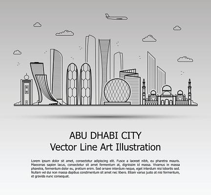 Abu Dhabi City Gray