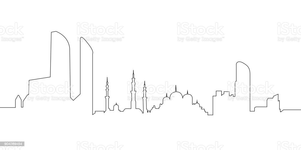 Abu Dhabi cityscape vector art illustration