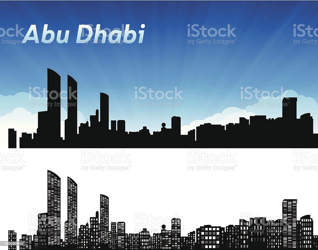 Abu Dhabi Skyline vector art illustration