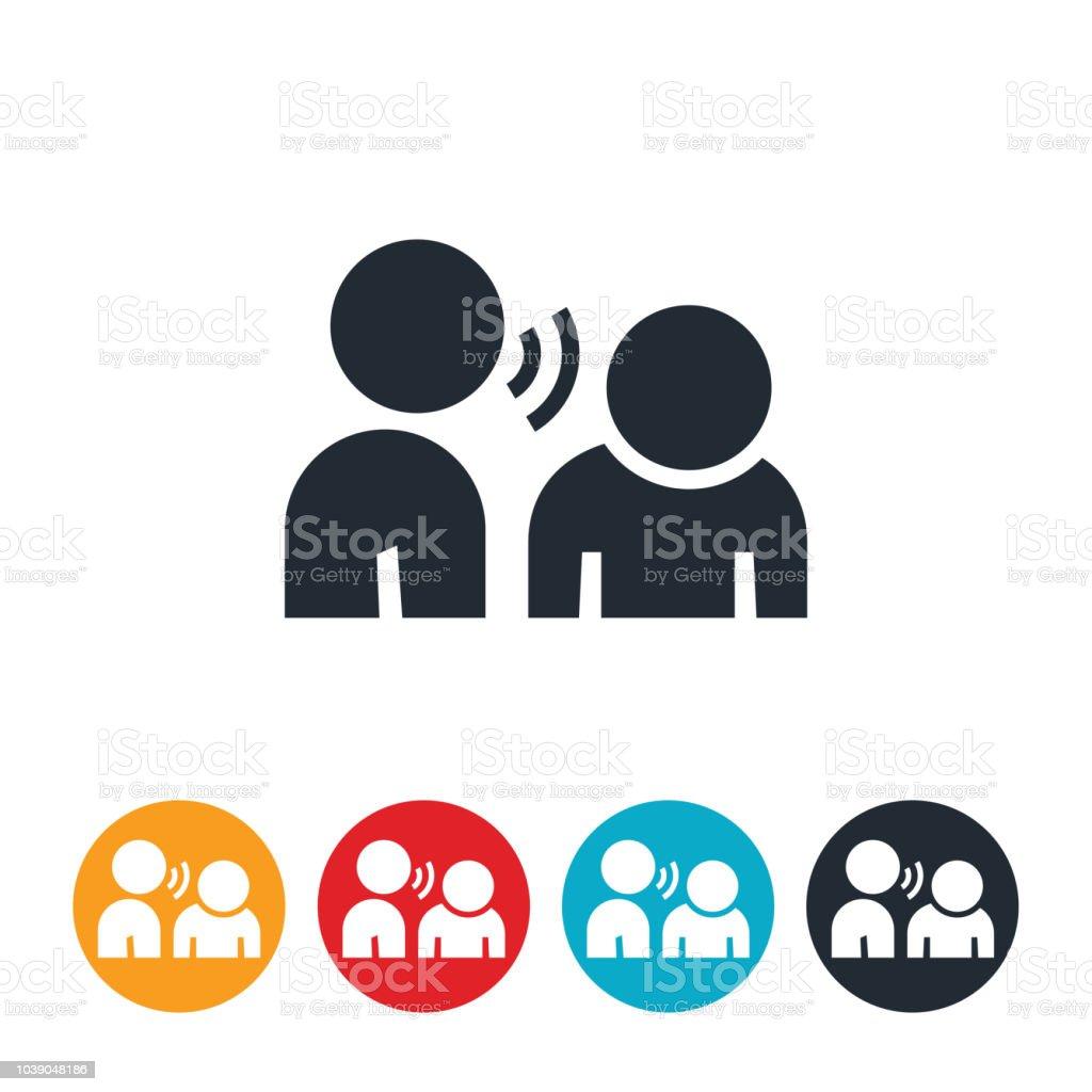 Abusive Language Icon vector art illustration