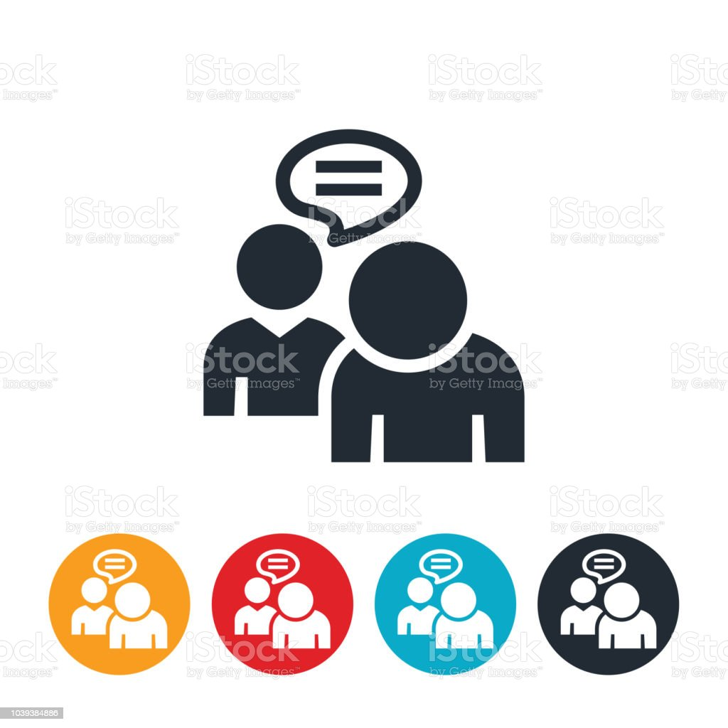 Abusive Language In the Workforce Icon vector art illustration