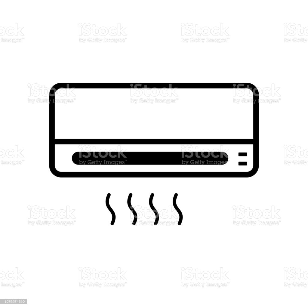 ac, air conditioner icon outline vector vector art illustration