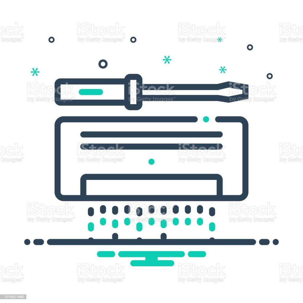 Ac service vector art illustration