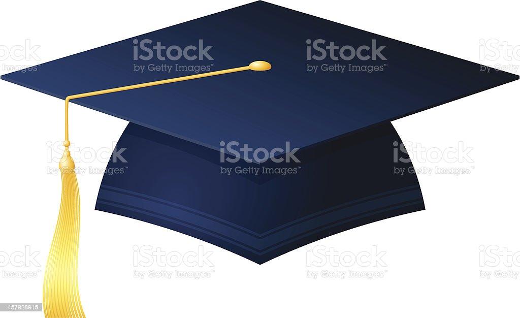 academic cap vector art illustration