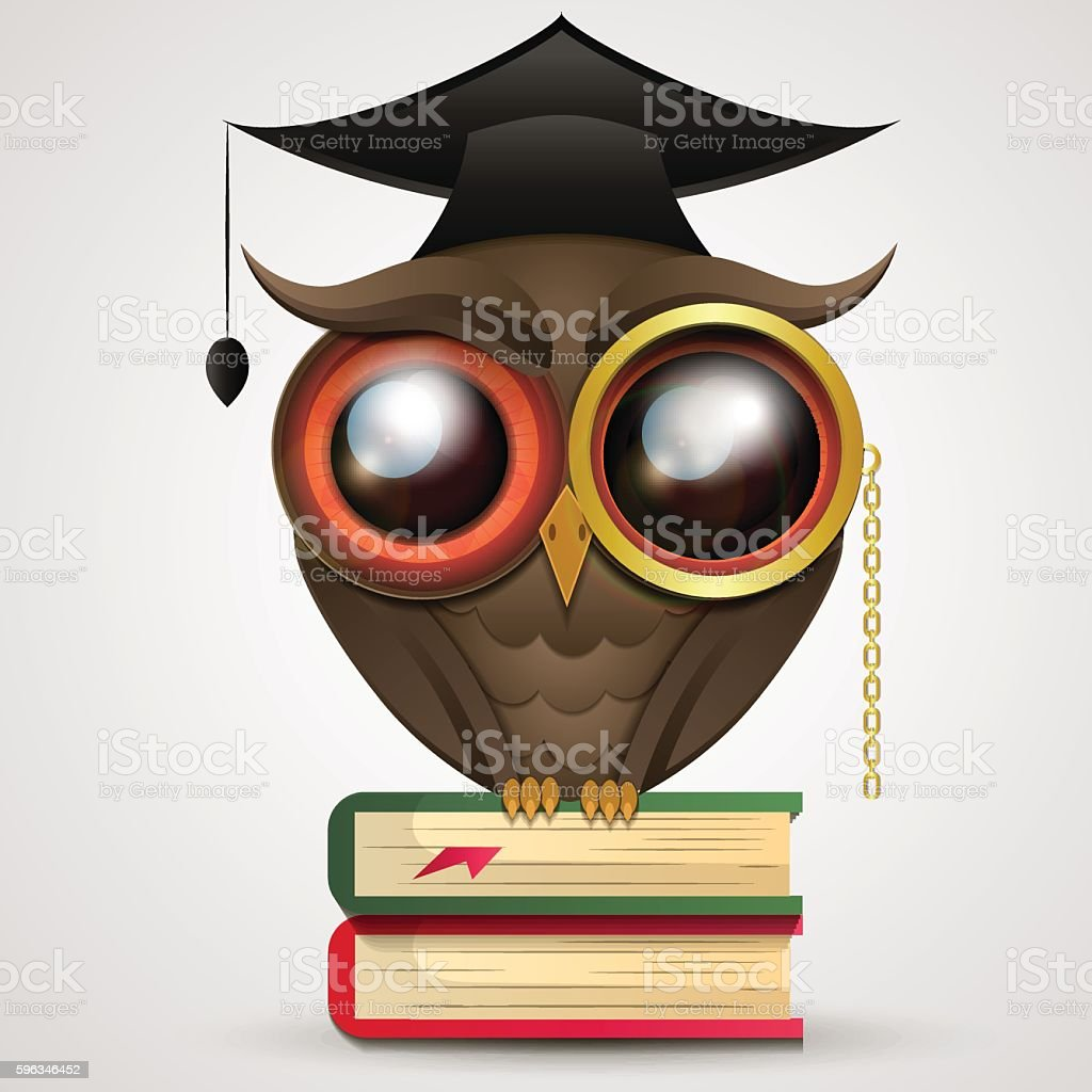Academic Owl vector royalty-free academic owl vector stock vector art & more images of animal