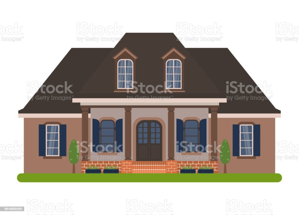 Acadian house vector royalty-free acadian house vector stock vector art & more images of architecture
