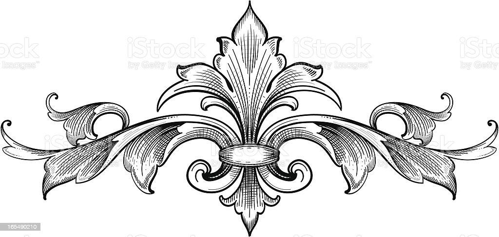 Acanthus Symmetry vector art illustration