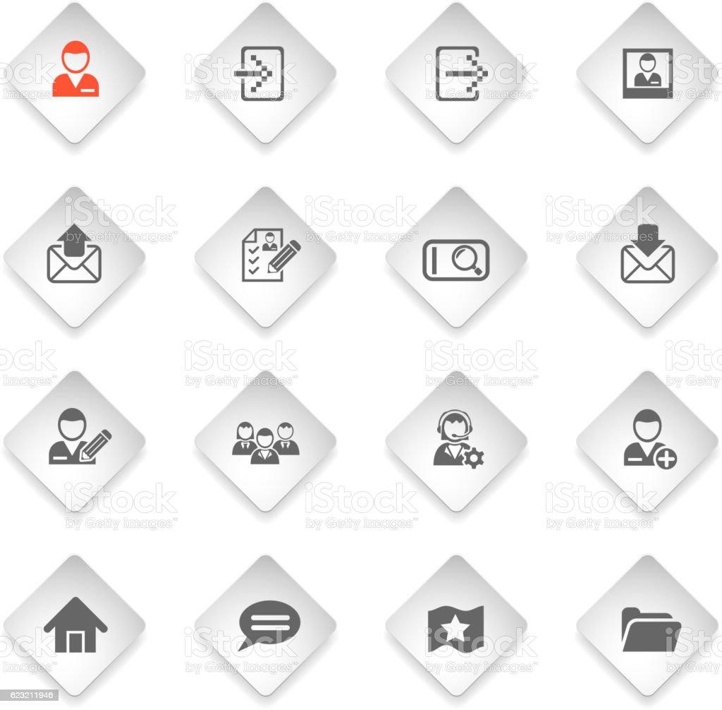 accaunt icon set vector art illustration