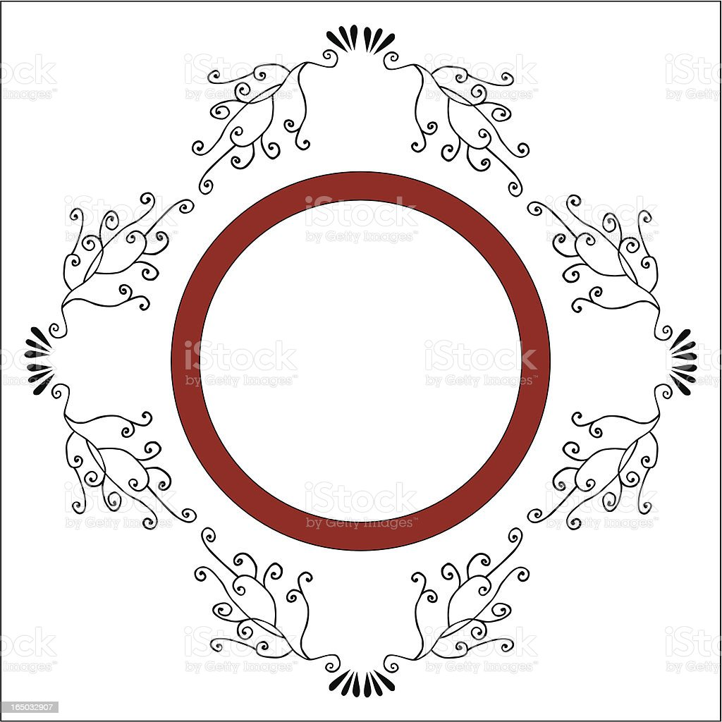 Accented Square Frame ( Vector ) royalty-free stock vector art