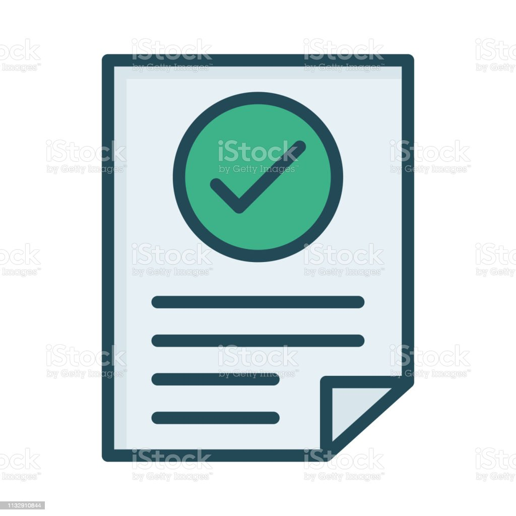 accepted   document   file vector art illustration