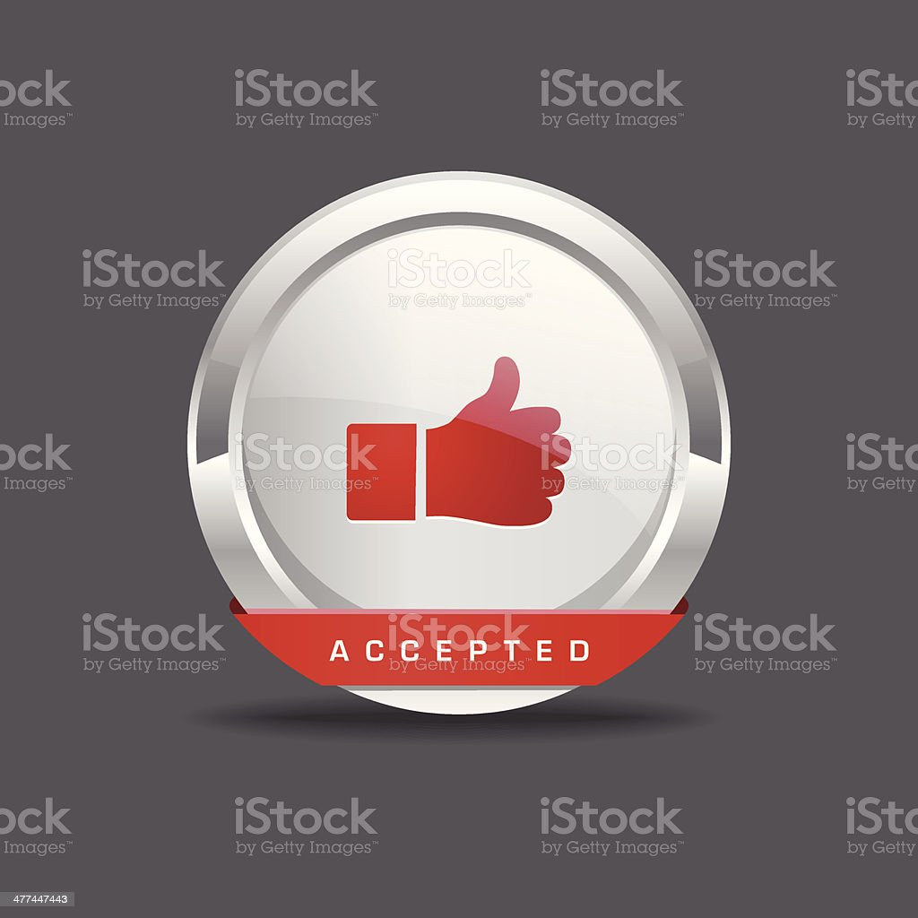 Accepted Round Vector Icon Button royalty-free stock vector art