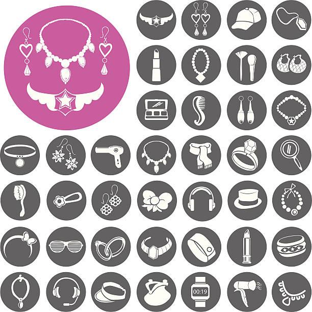Accessoires-Icons set.  Illustration eps10 – Vektorgrafik