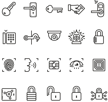Access control system icons - Unico PRO series