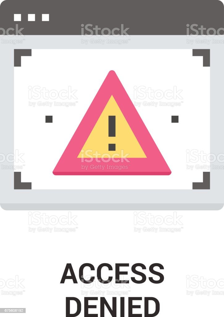 Accès refusé icône  accès refusé icône – cliparts vectoriels et plus d'images de accessibilité aux personnes handicapées libre de droits