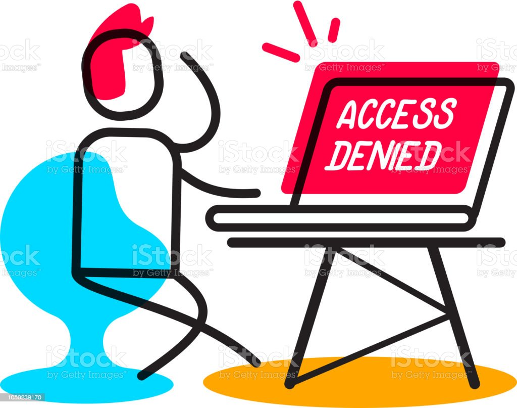 Acces Refuse Concept Lineaire Illustration Vectorielle Affaires