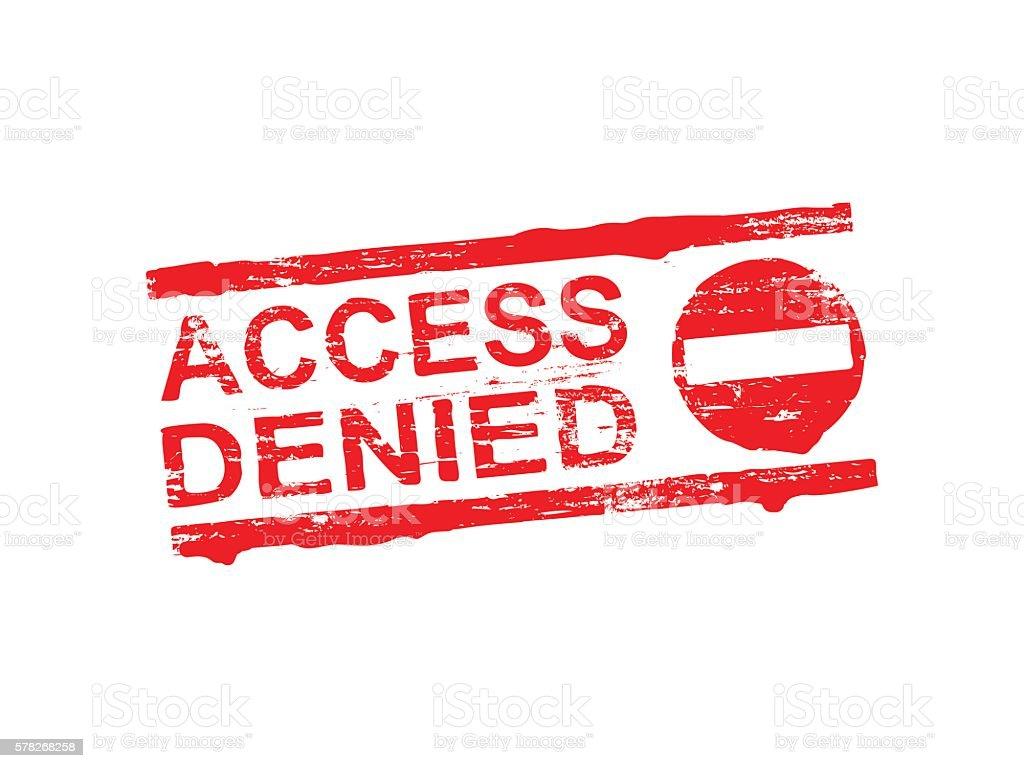 Denied >> Access Denied Rubber Stamp Stock Illustration Download