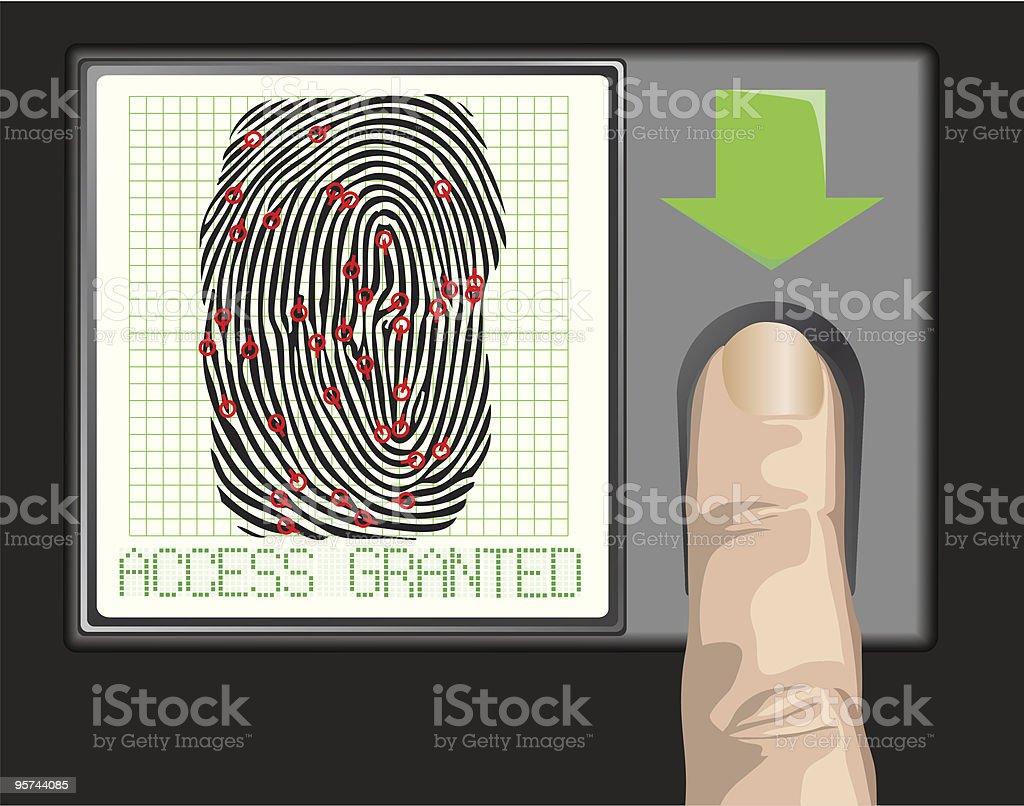 Access granted vector art illustration