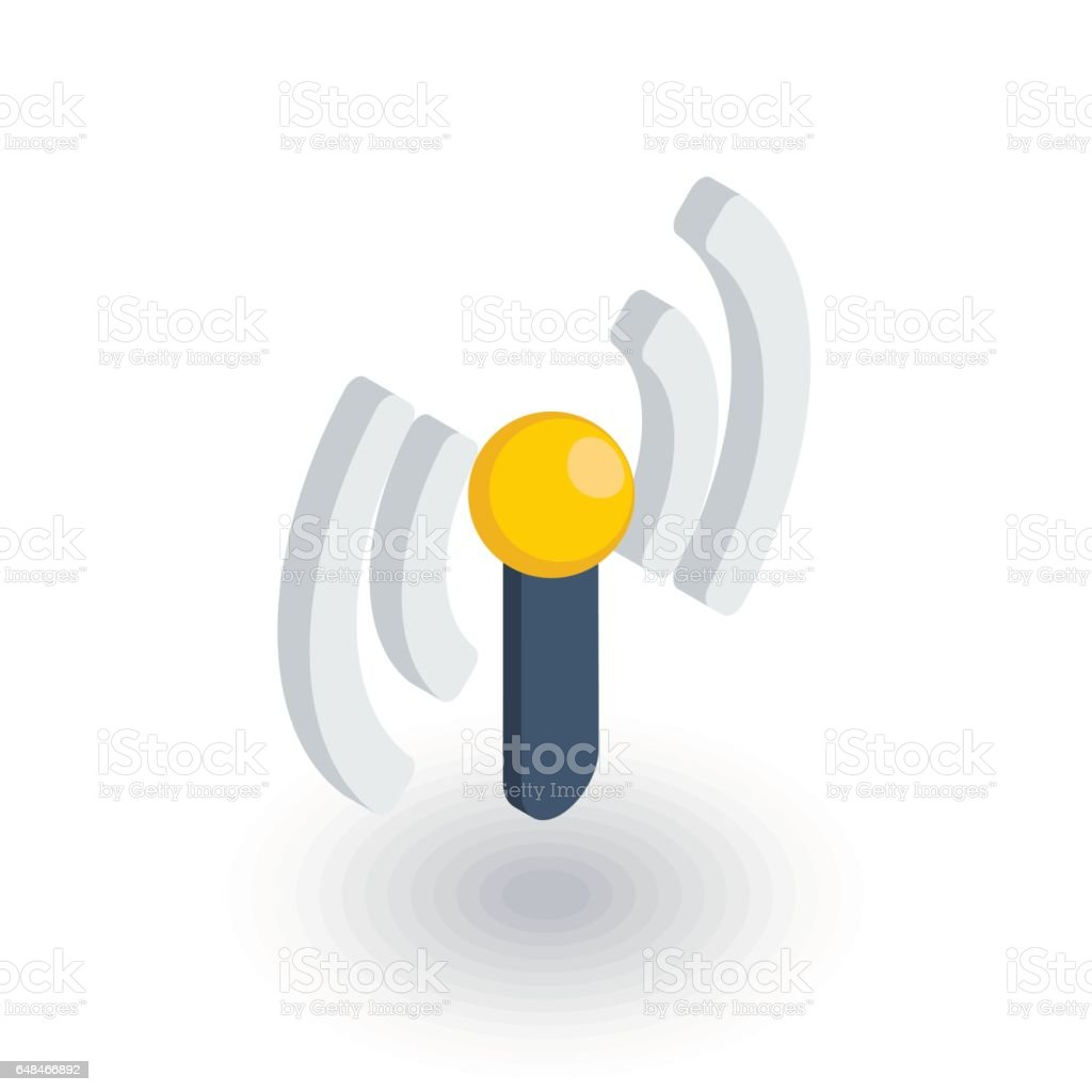 Access Point Wifi Signal Antenna Isometric Flat Icon 3d Vector Stock