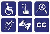 Accessibility icon set, Accessibility concept