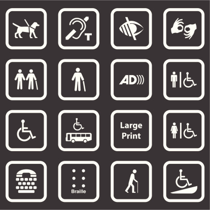 Accessibility Icons (White Series)
