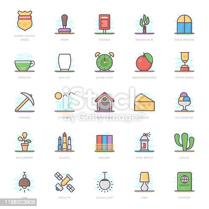 We are presenting accessories flat icons pack for your design project. Editable vectors are easy to use for your design needs.