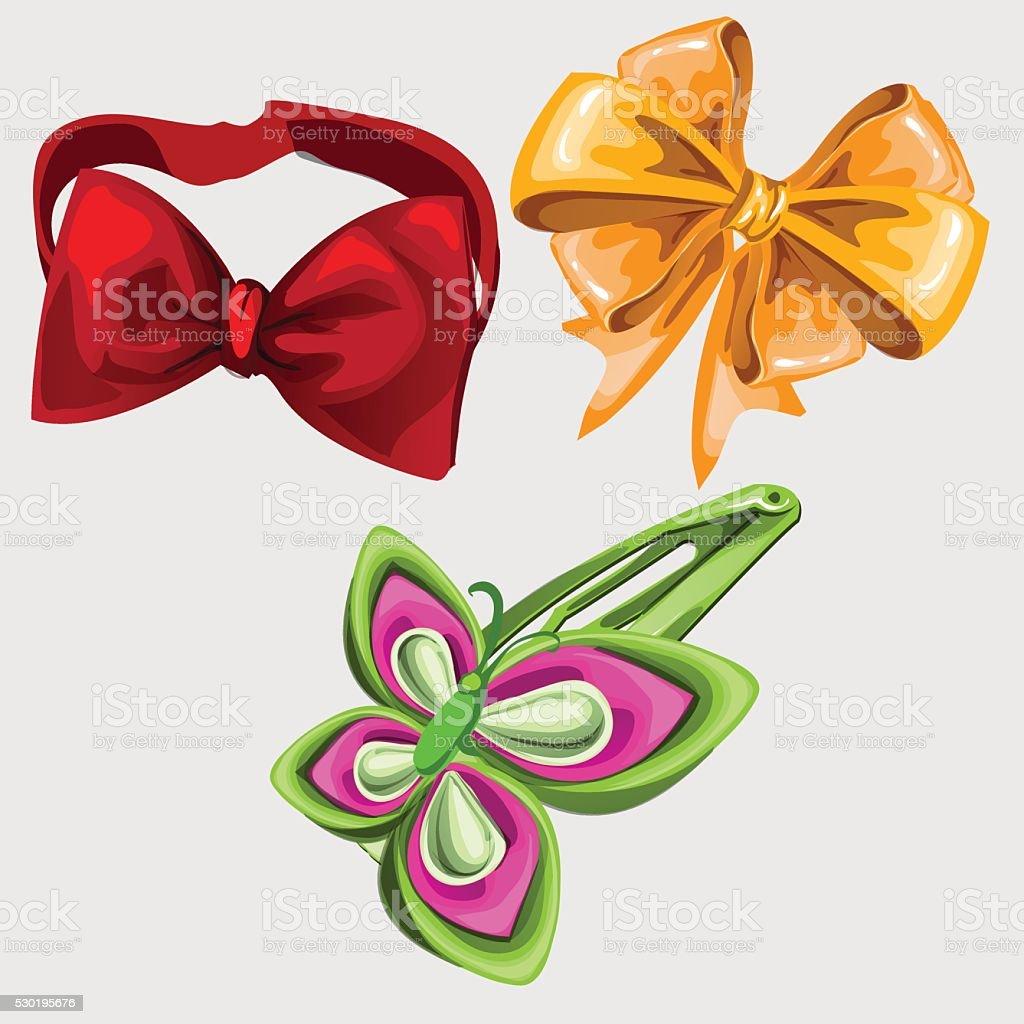 Accessoires En Forme De Papillon Une Cravate Et Épingle À