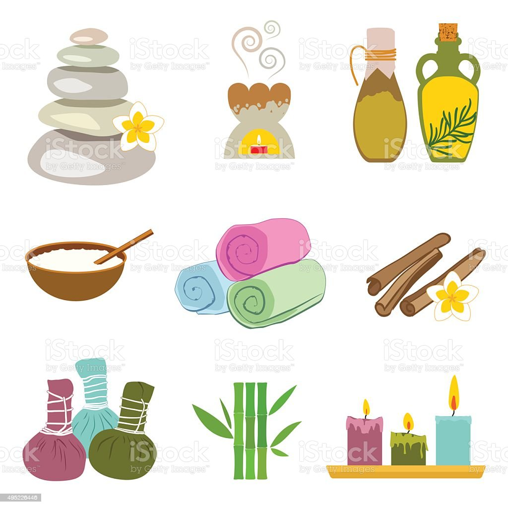 Accessories Set For Thai Massage Stock Illustration - Download Image Now - iStock