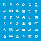 Accident And Insurance Themes related icons - set #13
