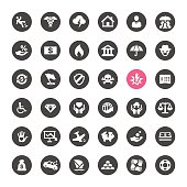 Accident And Insurance related icons.
