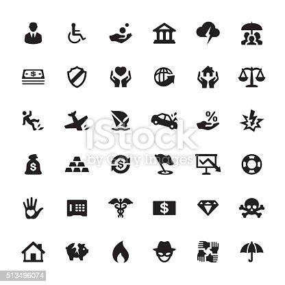 Insurance & Accident Themes related symbols and icons.