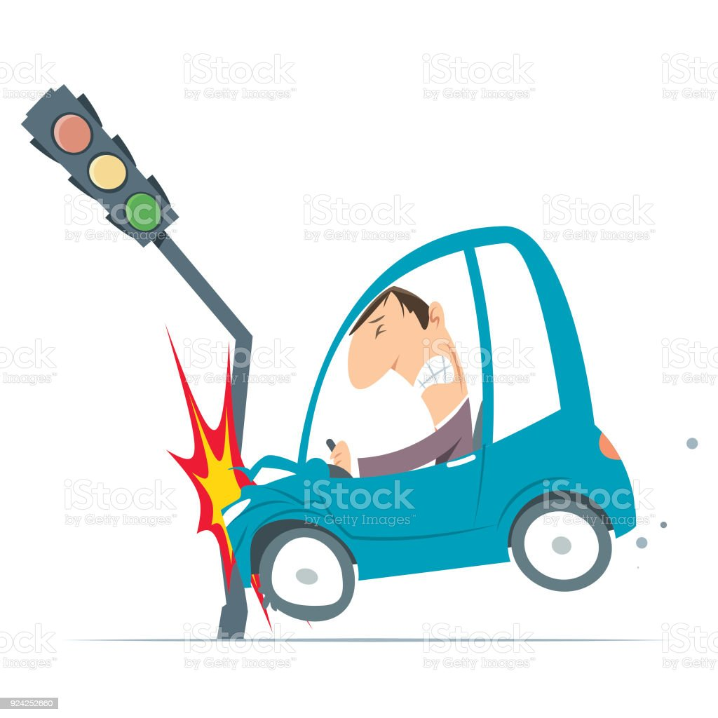 Accident Car Stock Vector Art & More Images of Accidents and ...