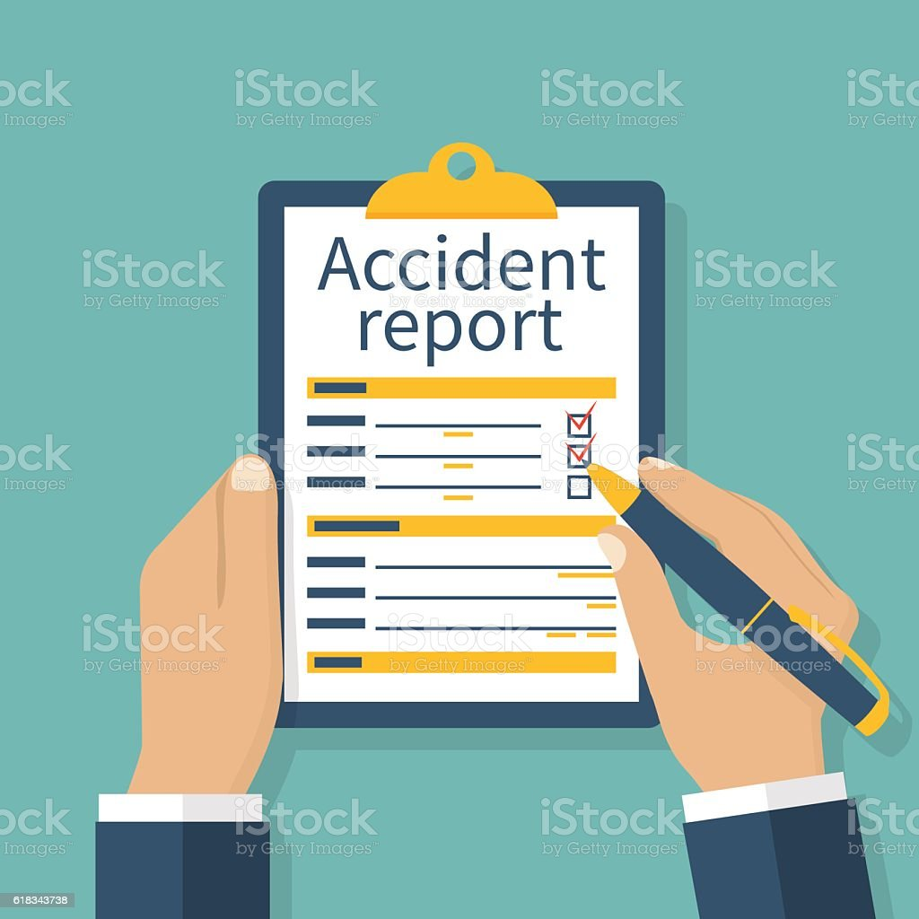 Accident report form vector art illustration