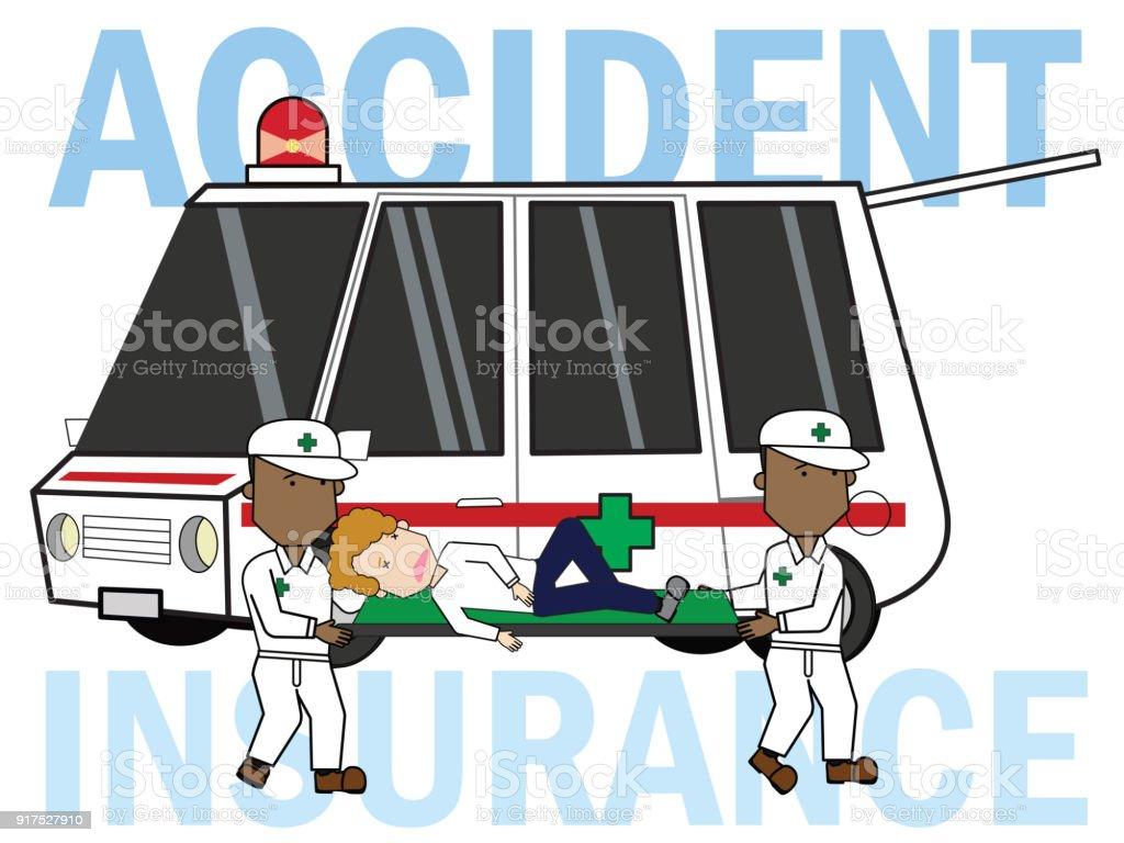 Accident safety emergency transit. vector art illustration