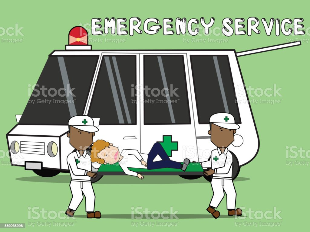 Accident safety emergency transportation. vector art illustration
