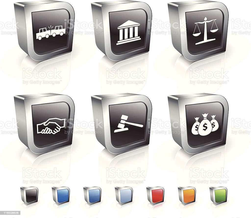 accident square royalty free vector icon set royalty-free stock vector art