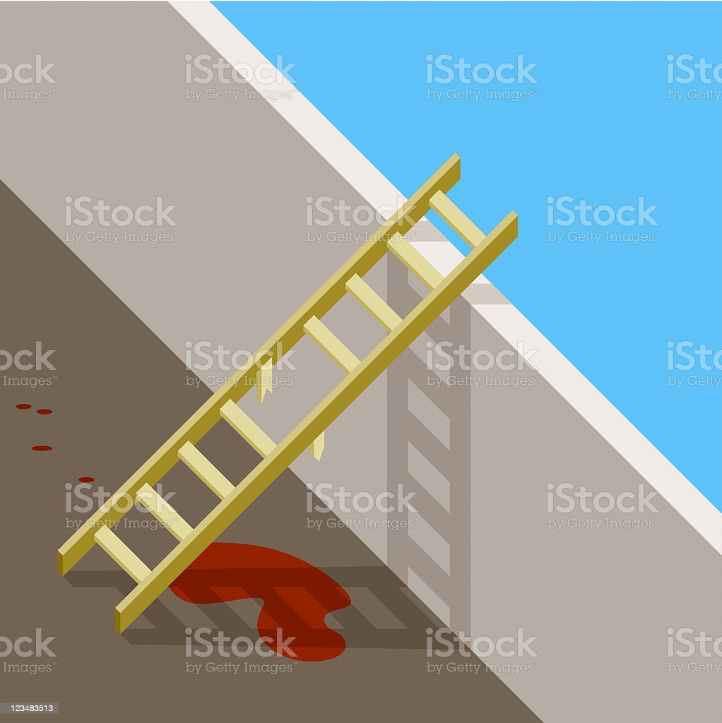 Accident With Ladder royalty-free stock vector art