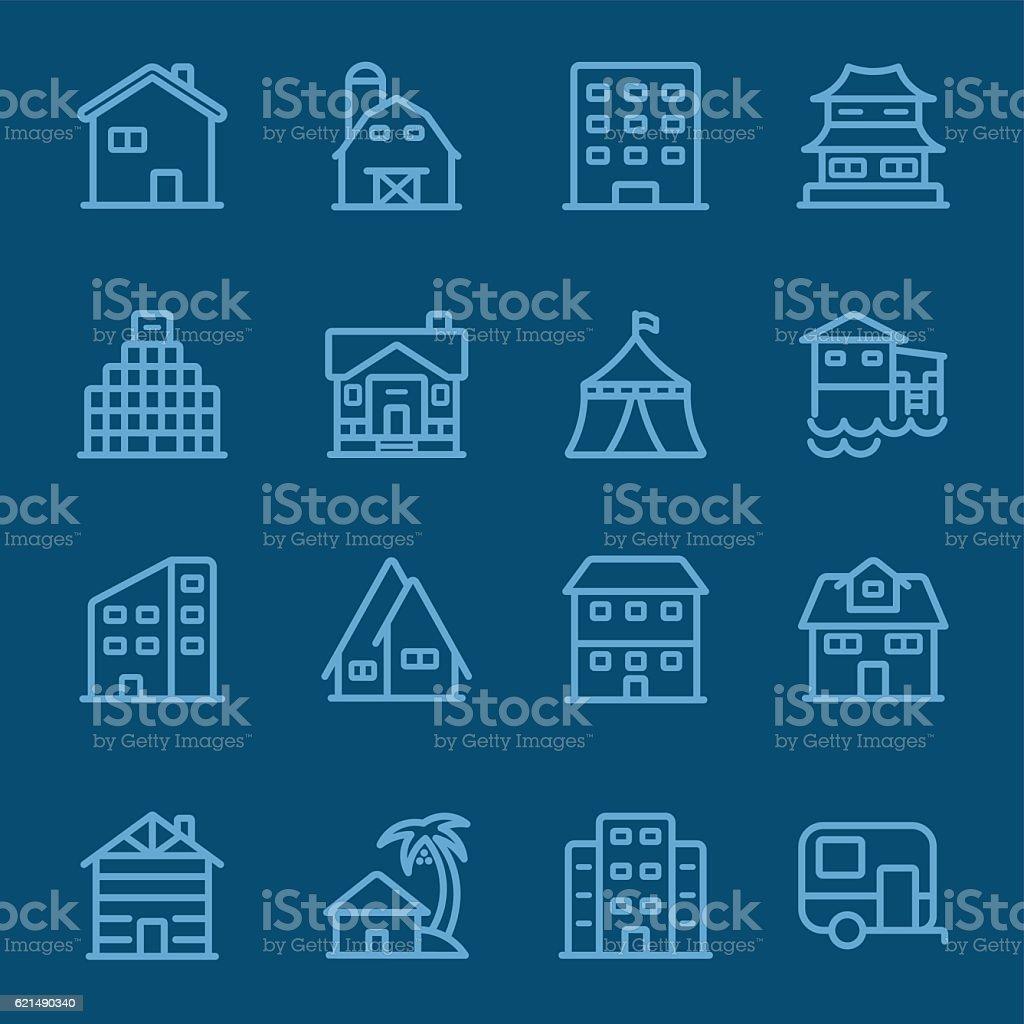Accommodation blue line icon accommodation blue line icon – cliparts vectoriels et plus d'images de affaires libre de droits