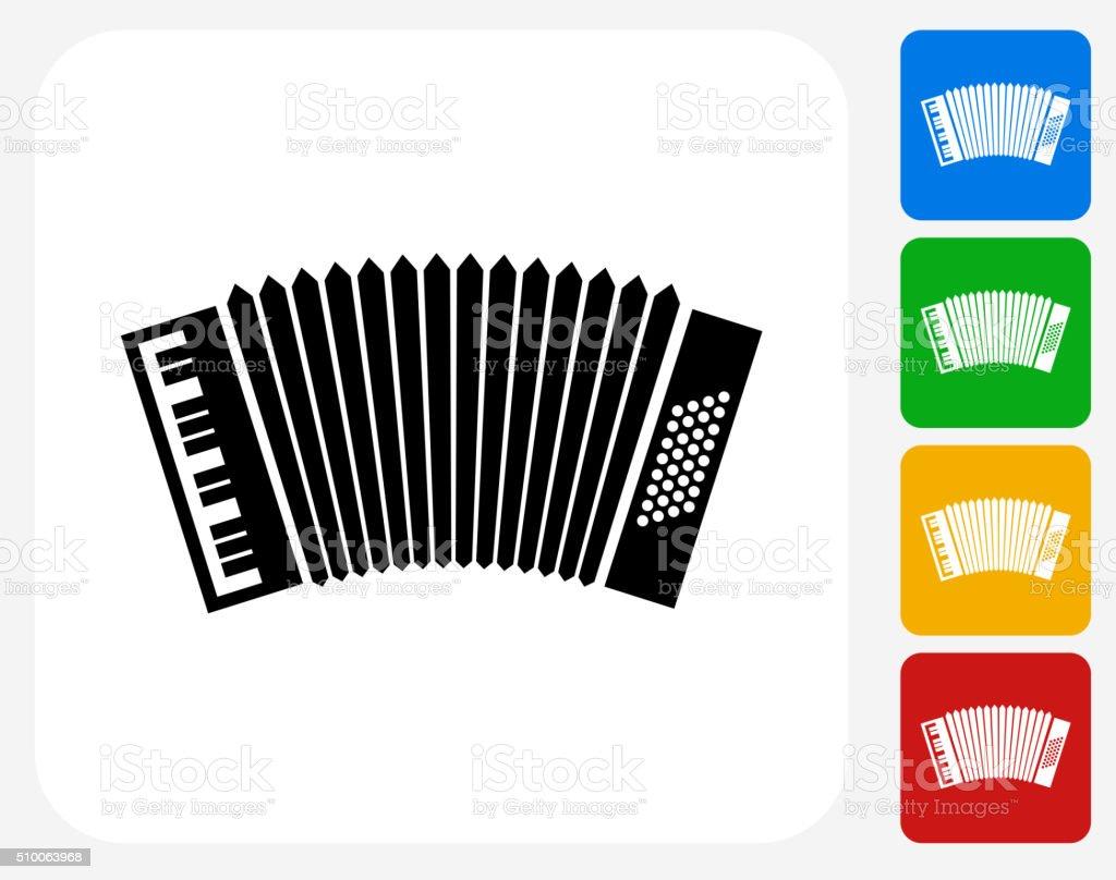 Acordeón diseño gráfico de iconos planos - ilustración de arte vectorial