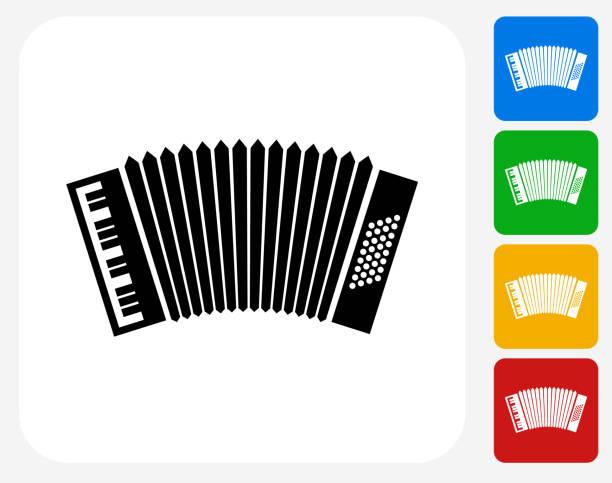 Akkordeon Symbol flaches Grafikdesign – Vektorgrafik