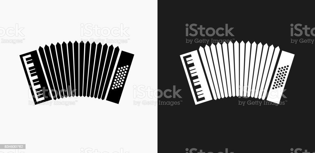 En blanco y negro fondos de Vector icono de acordeón - ilustración de arte vectorial
