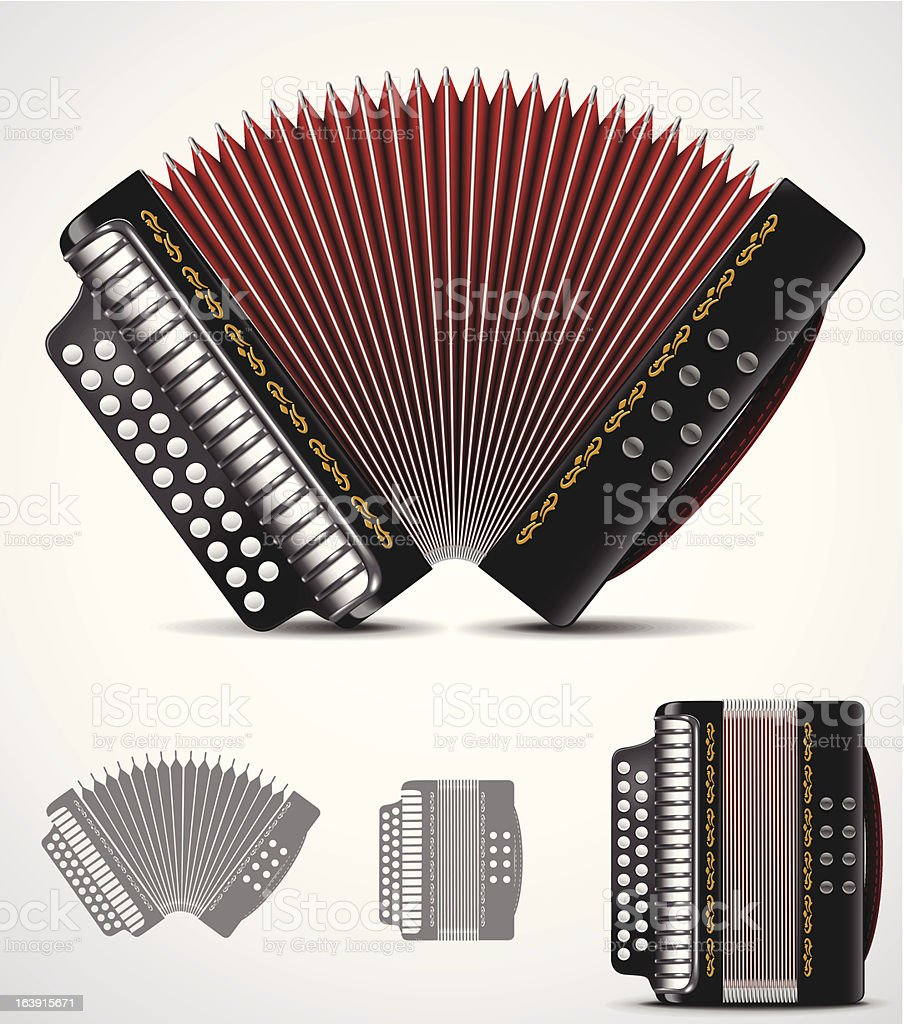 Accordion icon royalty-free stock vector art