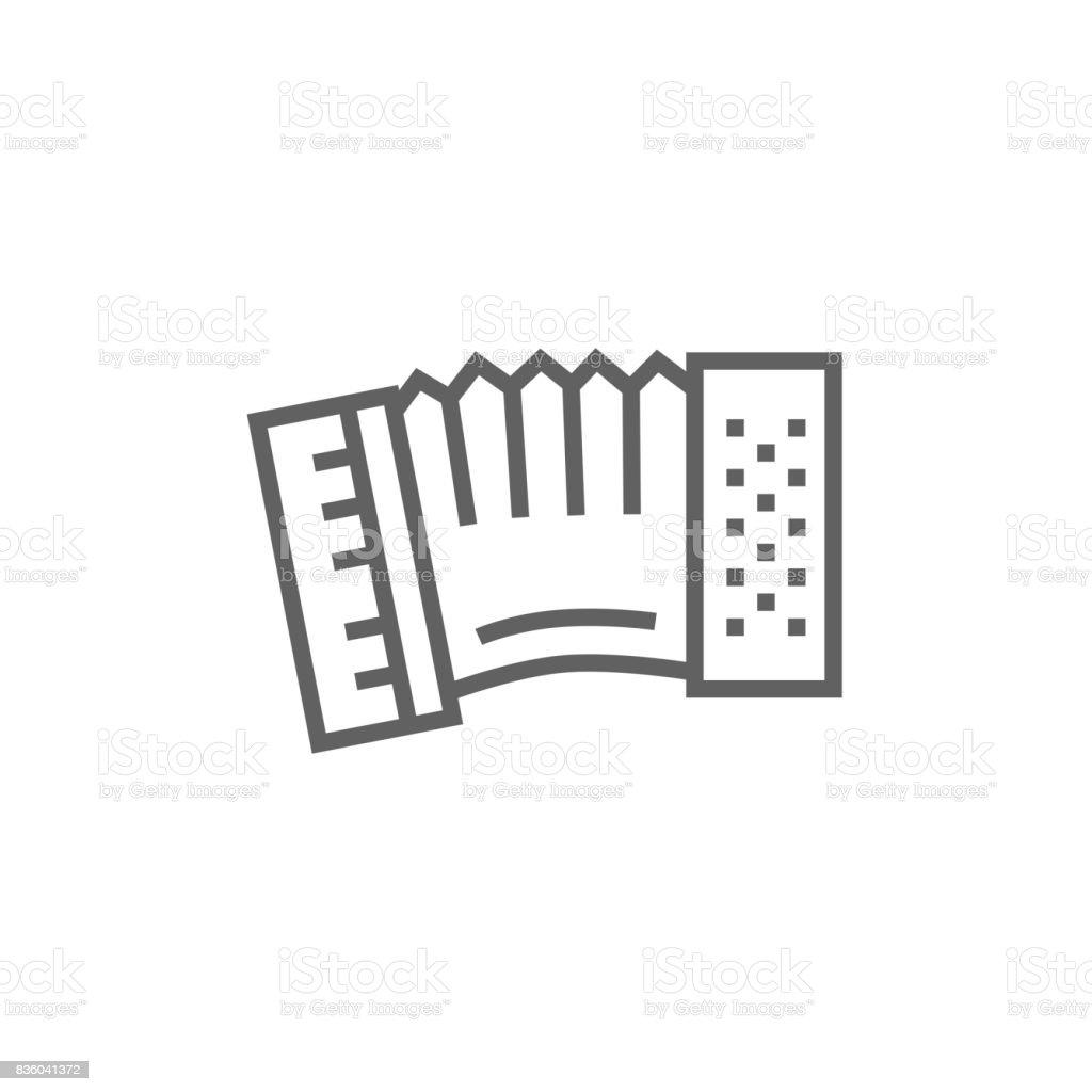 Acordeón icono de - ilustración de arte vectorial