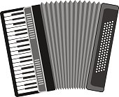 Accordion, musical instrument, accordion icon.