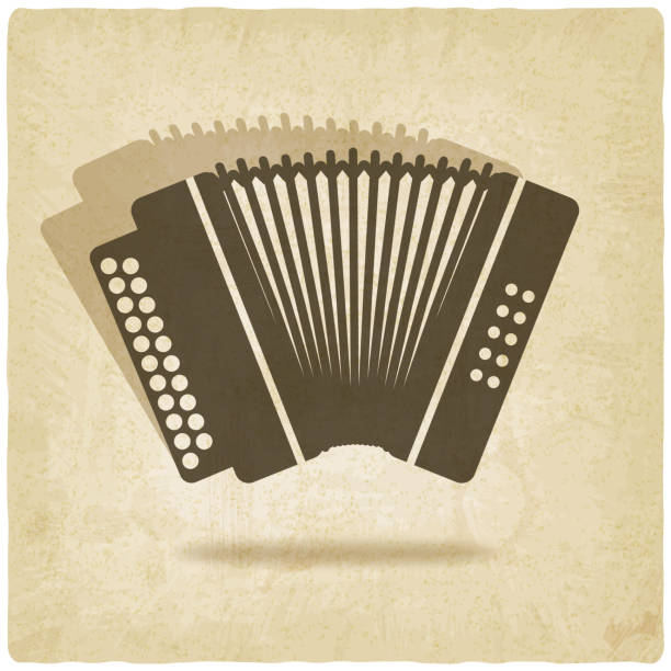 Akkordeon alten Hintergrund – Vektorgrafik