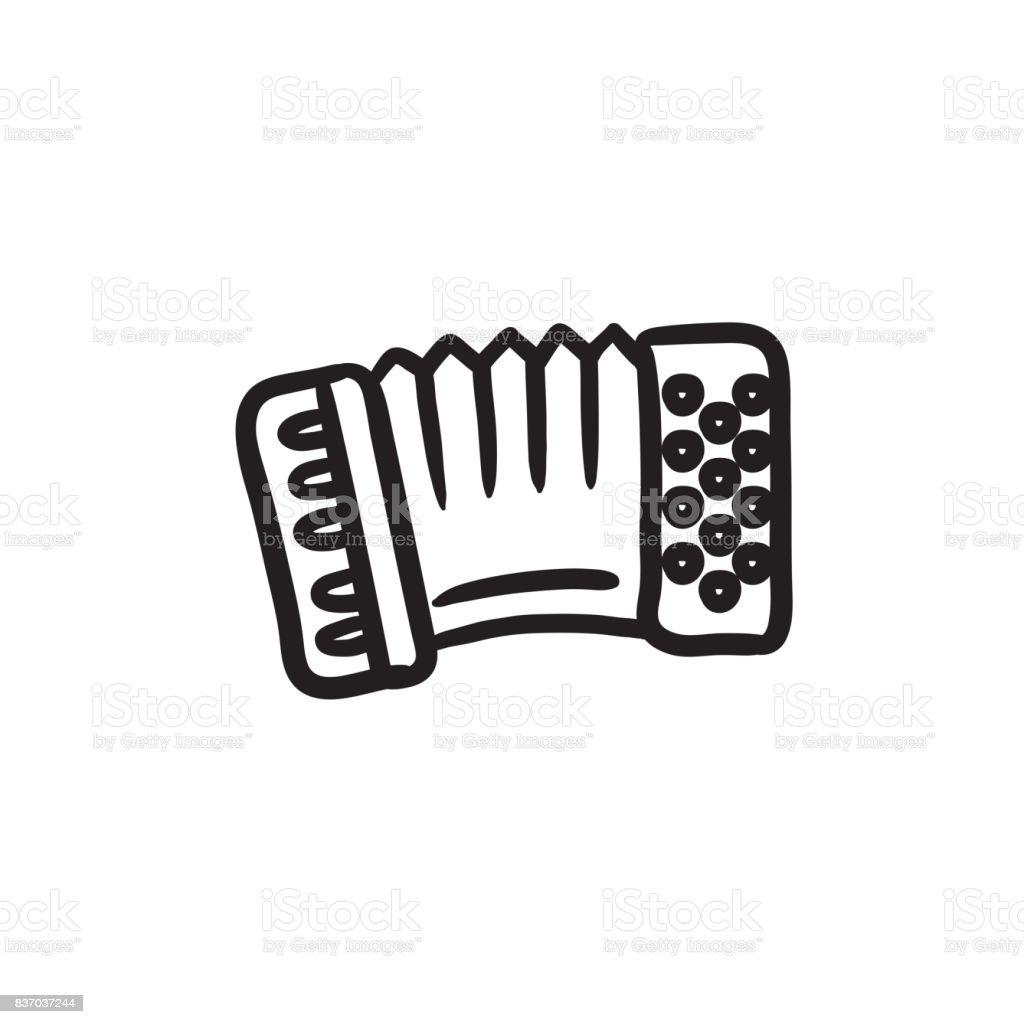 Acordeón dibujo icono - ilustración de arte vectorial